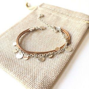 NWOT Tiny coin bracelet